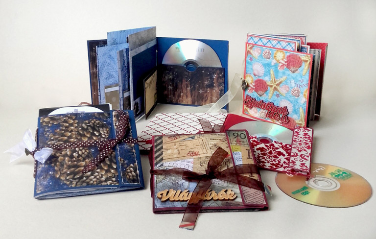 CD-tartós minialbum onlin scrapbooktanfolyam